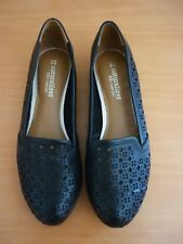 NATURALIZER N5 COMFORT BLACK LEATHER SHOES W/CUT OUT DETAIL SZ US 7W UK 5 AS NEW