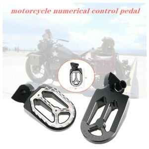 2 x Motorcycle Pedal Non-slip Backfoot Foot Pegs Stainless steel Shark tooth