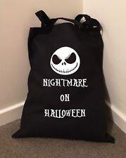 Pesadilla En Bolsa De Halloween Tim Burton Algodón Bolso Bolso de compras 38cmx43cm