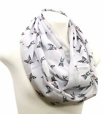 Boston Terrier dog infinity scarf birthday gift for her anniversary present mom