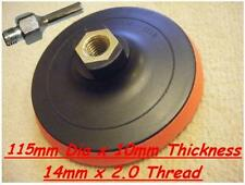 "Velcro Backing Pad 115mm For 4 1/2"" & 125mm  Angle Grinders with MANDREL"