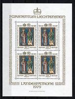 Liechtenstein KB 734 postfrisch kompletter Kleinbogen Michel 100,00 Euro MNH