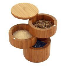 Totally Bamboo 3-Tier Triple Salt Box / Cellar