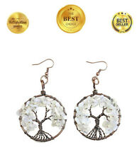 Earrings Fine Jewellery Women Girls Gift The Tree of Life Pendant Drop Dangle