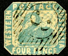 Western Australia 1854 Scott 3 Used 'Swan' Postage Stamp Aps Expertised
