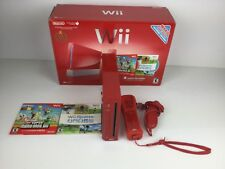 Nintendo Wii Super Mario Bros Limited Edition Red Console 25th Anniversary