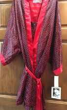 Womens Plus Chemise/Gown & Robe Set 3X Contessa Di Roma Rosebud Print NWT