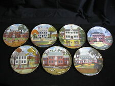 Set of 7 Colonial Heritage Series Plates by Artist Robert Franke by Ridgewood