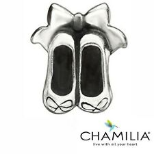 Genuine retired Chamilia silver 925 ballet shoes bracelet charm GD-5