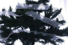 """Christmas Blue Silver Holiday Tree Decoration Garland 2.5"""" 100 ft New"""