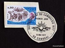 TIMBRE FRANCE OBL. 1° JOUR  Yt 1932 RATTACHEMENT DU CAMBRESIS  1677