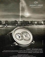 ▬► PUBLICITE ADVERTISING AD Montre Watch JD JACQUET DROZ