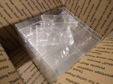 LOT OF 50 CLEAR PLASTIC CASSETTE CASES EMPTY  FAST SHIPPING