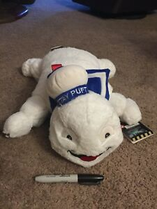 GHOSTBUSTERS STAY PUFT MARSHMALLOW MAN plush Pillow RARE W/tags NEW