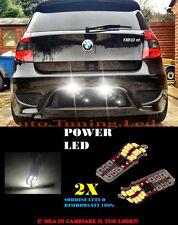 COPPIA LUCI TARGA BMW SERIE 1 E81 E82 E87 E88 T10 BIANCO 20 LED SUPER QUALITA
