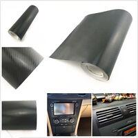 3D 30x127CM Carbon Fiber Vinyl Sticker Car Wrap Interior Dashboard Air Vents
