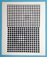 Victor VASARELY I Offset Originale 1973 Op Art Optique Cinétique garantie 45ans