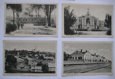"""4 AK - Nowo Wileisk """" Irrenanstalt , Bahnhof,Haus - und Stadtansicht """"  1918"""