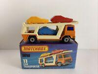 MATCHBOX SUPERFAST No 11 CAR TRANSPORTER - OVP&UNBESPIELT - TOP ZUSTAND -