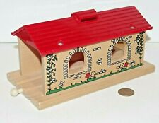 BRIO Wooden Railway Country Tunnel / Engine Shed 33471 - works w/ Thomas Train