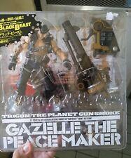 gazelle the peacemaker black beast version kaiyodo trigun anime action figure