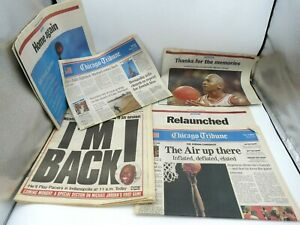 Vintage Michael Jordan Chicago Bulls Newspapers