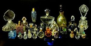 LOT of Vintage & Antique Perfume Bottles, Cut Crystal, Victorian Glass, Scent