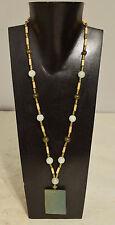 Necklace Chinese Green Adventurine Pendant Serpentine Bead Pendant Necklace