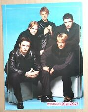 WESTLIFE / WESTSIDE Original Vintage Top of the Pops Magazine A4 Poster ERROR