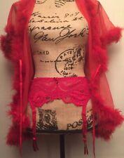 Sexy Cabernet Red 11376 Lace Garter Belt Womens Lingerie Size Large Juniors
