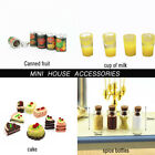Mini Fruit Canned Spice bottles cake Dollhouse Miniature Food Doll Accessories