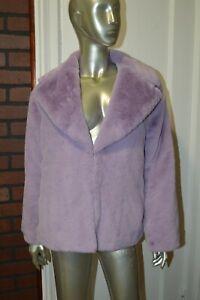 Alice + Olivia Thora Oversized Faux Fur Coat Size S