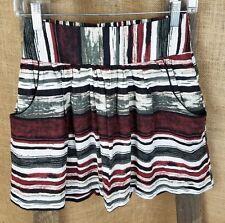 Charlotte Russe women XS linen Tulle skirt pockets striped lined