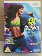 ZUMBA FITNESS 2 - With Belt - Nintendo Wii Box Set Game Workout Exercise Regime