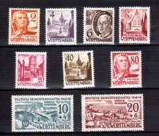 WURTTEMBERG 1948 incl valuable 80 + ski set MLH