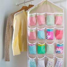 16 Grid Clothing Underwear Socks Scarves Storage Hanging Bag Cabinet Wardrobe