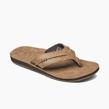 Reef Men's Marbea SL Vegan Leather Flip Flops - Tan NWT