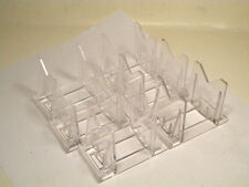 """6 Clear 3 Part 2 1/2"""" Adjustable Display Stands For Crankbait Fishing lures"""