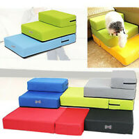 Breathable Mesh Foldable Pet Stairs Detachable Pet Bed Cat Dog Ramp 2 Steps SES