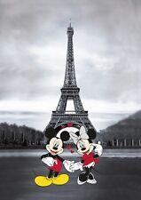 Disney  Bilder Wandbild Keilrahmen Kunstdruck Micky Maus / Minnie Maus  Art. 008