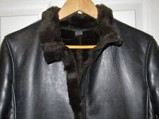 EUC M0851 Rugby North America Womens Faux Fur Lined Leather Full Length Coat M