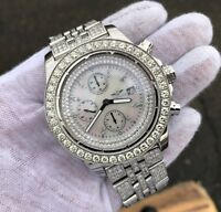 Breitling Super Avenger Chronograph Watch 9 CT+ Diamonds A13370 - READ