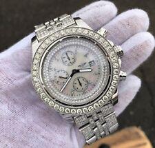 Breitling Super Avenger Chronograph Watch 9 CT+ Diamonds A13370 - READ