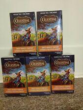 Celestial Seasonings Black Tea Sweet Harvest Pumpkin Holiday LOT of 5