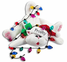 CHRISTMAS KITTEN CAT Personalized Ornament Handmade Polymer Clay by Deb & Co.
