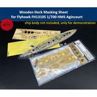 Wooden Deck & Masking Sheet for Flyhawk FH1310S 1/700 HMS Agincourt Ship Model