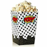 100 pcs Popcorn Boxes Paper Container Case for Birthday Party Movie Night 46 oz
