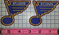 "2 ST.LOUIS BLUES PATCH NHL HOCKEY 2"" JERSEY CREST PATCH LOT HALAK STEEN BACKES"