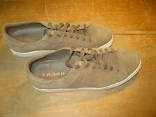 Men's Trask Suede Leather Sneakers - Size 10.5M - Tan - Mint Cond.