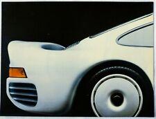 1986 Porsche 959 Poster UK Sales Brochure Full Line Fold Out 924 911 928 S2 944